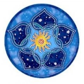 sticker solar lotus