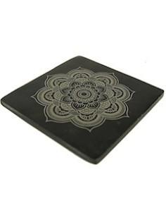 Incensario de piedra jabón con Mandala