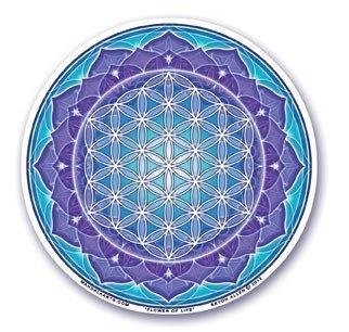 Sticker Flower of Life, azul