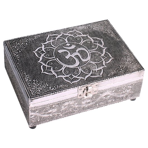 Caja OM, color plata